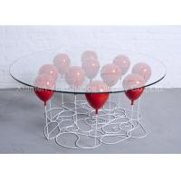Buy cheap Home Decoration Fiberglass Furniture Red Color Fiberglass Balloon Standing Table from wholesalers