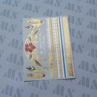 Buy cheap Hot Gold Foil Metallic Temporary Water Transfer Body Tattoo from wholesalers