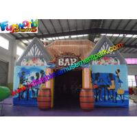 Buy cheap Waterproof Inflatable Bar Tent , House Inflatable Event Tent With Barrel from wholesalers
