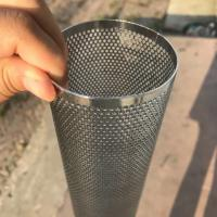 Buy cheap Perforated Mesh Screen Filter Tube Cartridge / Cylindrical Metal Mesh Filter Screen from wholesalers