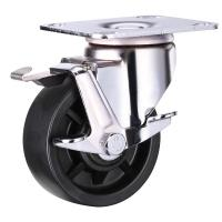 Buy cheap Black Nylon Caster Wheels with Brake / 50mm 100mm Nylon Wheels Industrial from wholesalers