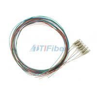 Buy cheap Splicing LC Multimode Fiber Optical Pigtail , 0.9mm 12 colors Fiber Cable product