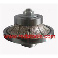 Buy cheap Sell vacuum brazed hand profile wheels  half bullnose shape from wholesalers