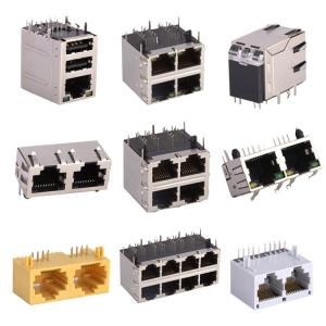 Buy cheap Shielded 1 2 Port 1X2 1X4 2X2 Cat6 RJ45 Jack Plug With LED product