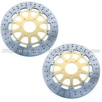 Buy cheap Front Round Motorcycle Brake Disc Rotor With Aluminum Alloy Stainless Steel product