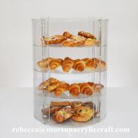 Buy cheap New Countertop Eco-friendly Four Tier Transparent Acrylic Bakery Display Case from wholesalers