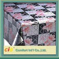 Buy cheap White / Blue Printing Suqare Non-Slip Dining Table Cloth for Household product