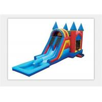 Buy cheap Safety 0.55mm PVC Outdoor Inflatable Bouncy Castle Water Slide For Kids from wholesalers