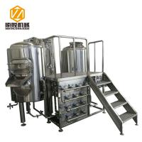 Buy cheap 400L Semi Automatic Small Brewery Equipment Two Vessels With Steam Condenser from wholesalers