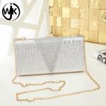 Buy cheap Wholesale Women Handbag Lady metal Clutch Purse frame Shine Chain Party Crossbody Bag accept OEM clutch bag designer from wholesalers