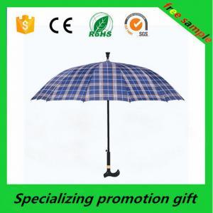 Buy cheap 23 Inch Auto Open Leaf Walking Stick Umbrella Mens Umbrella Wooden Handle product