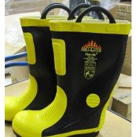 Buy cheap Firefighting Unit Rubber Fireman Safety Boot With Steel Cap And Sole from wholesalers
