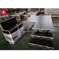 Buy cheap 0.8m Height Acrylic Stage Platform Flexible Steel Ring Lock Layher Retractable from wholesalers