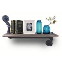 Buy cheap 15x10cm Industrial Pipe Shelving Wood Brackets For Flower / Book Shelving from wholesalers