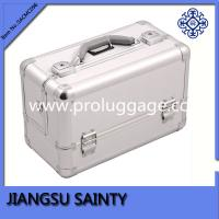 Buy cheap Rectangle solid silver color cosmetic organizer case from wholesalers