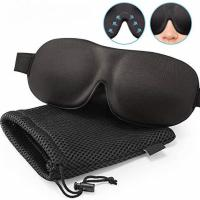 Buy cheap Most Comfortable Night Sleeping Eye Cover Mask Black+ Mesh Bag Style from wholesalers