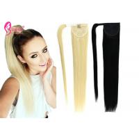 Buy cheap 100% Durable Ponytail Extension Human Hair / Remy Human Hair Ponytail For Young Girls from wholesalers