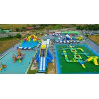 Buy cheap Outdoor Adults Giant Inflatable Water Parks , Floating Playgrounds Customized Logo product