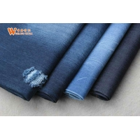 Buy cheap Dark Blue Clothes Coated Stretchy 12oz 100 Cotton Denim Fabric By The Yard from wholesalers