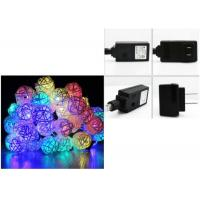 Buy cheap 110 Voltage Multi Colored Christmas Lights 6 Meter 30 Leds White / Red / Pink from wholesalers