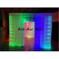 Buy cheap portable exhibition display inflatable photo booth enclosure/inflatable photo studio with led for sale from wholesalers