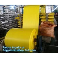 Buy cheap Pp Fabric Woven Sack Rice Bag Roll For Agriculture,60cm width virgin colorful flat surface tubular PP woven fabric roll from wholesalers