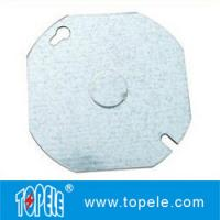Buy cheap 4 Electric Metal Cover 54C6 Flat Octagonal Steel Cover 1/2 Knockout from wholesalers