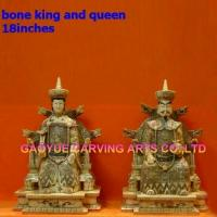 Buy cheap Bone king and queen statues bone buddha figurines bone carvings from wholesalers