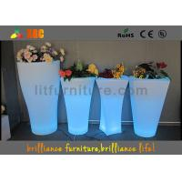 Buy cheap Fashionable LED Flower Pot / Vase With Led Lights 16 Colors Changeable from wholesalers
