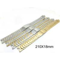 Buy cheap Classic Handwork Polish Mens Stainless Steel Bracelet Watch Belt Super Wider Link from wholesalers