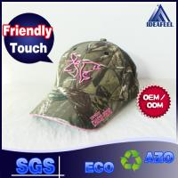 Buy cheap Forest Hunting Camo Unisex Baseball Caps With Pink 3D Embroidery Front Logo from wholesalers