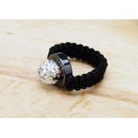 Buy cheap Crystal Wedding Rings For Men  , Shamballa Beaded Ring  Customized from wholesalers