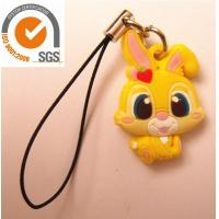 Buy cheap Yellow Soft PVC Keychain For Home Decoration / Phone Accessory product