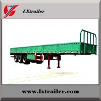 Buy cheap 60Tons flatbed side wall open tri-axle light cargo truck trailer/vehicle for sale from wholesalers