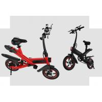 Buy cheap White / Black / Red Fold Up Electric Bike , Electric Mini Bike For Adults product