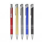 Buy cheap aluminum barrel business ball pen promotional  advertising good quality metal ball pen  3 lines metal pen from wholesalers