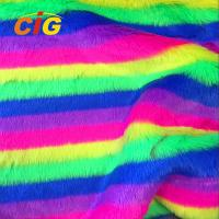 Buy cheap Knitted Colorful Faux Fur Fabric 500-1000 G/M Flame Retardant Anti Static from wholesalers