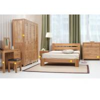 Buy cheap Simple Style Hardwood Bedroom Furniture Sets , Economic Full Size Bedroom Sets from wholesalers