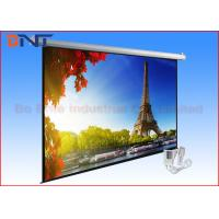 Buy cheap White Roll Up Remote Projection Projector Screen Wall Mount 135 Inch 4 3 from wholesalers