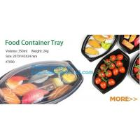 Buy cheap Food container tray,Black 5 Compartment Food Packaging Blister Plastic Fruit Tray,blister plastic microwave food ovenabl product