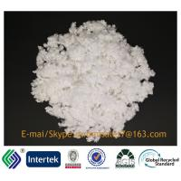 Buy cheap 2.5D/25MM siliconized raw white 100%polyester A Grade hollow conjugated staple fiber from wholesalers