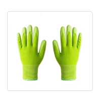 Buy cheap 13 Gauge Green Decorating Rubber Coated Work Gloves from wholesalers
