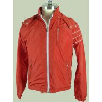 Buy cheap Anti Pilling / Windproof Orange  Custom Sport Jackets For Men from wholesalers