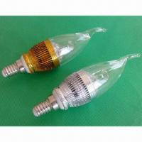 Buy cheap 4W high-power/-brightness LED candle lamps with E27/E14 socket from wholesalers