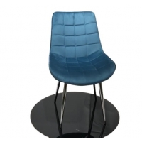 Buy cheap Modern Metal Leg Tufted High Back 84cm 5KGS Comfortable Leisure Chair from wholesalers