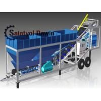 Buy cheap 40 CBM/Hr Mobile Concrete Batching Plant Mixing Plant China Maufacturer from wholesalers