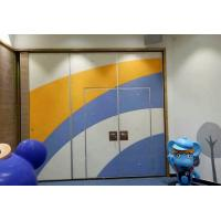 Buy cheap Sponge Leather Acoustic Flexible Office Partition Walls / Aluminium Frame Folding Sliding Doors from wholesalers