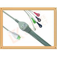 Copper Kontron ECG Patient Cable 12 Pin 5 Leads Aluminum Foils Shielding
