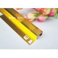 Buy cheap Durable Non Slip Aluminum Stair Nosing For Carpet Anodized Shiny Gold Color from wholesalers