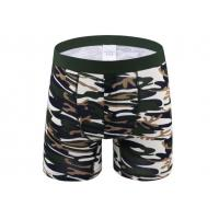 Buy cheap Sport Long Leg Boxer Shorts For Man , Cotton Men'S Underwear With Support Pouch from wholesalers